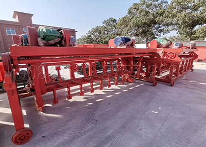 Groove type manure turner machine