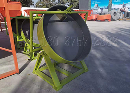 Small scale cow dung fertilizer disk granulator