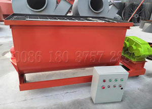 horizontal manure fertilizer powder blender