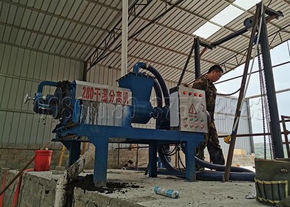 horse manure dewatering machine for compost making