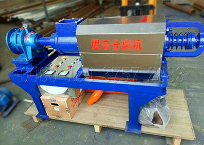 screw press solid liquid separation machine for cow dung processing