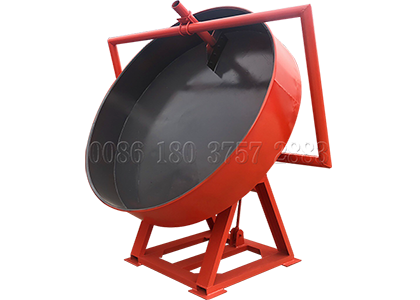 disc type wet compost granulation machine