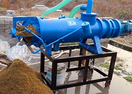 manure equipment for dewatering fresh animal manure