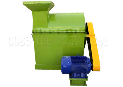 small scale cow dung powdering machine